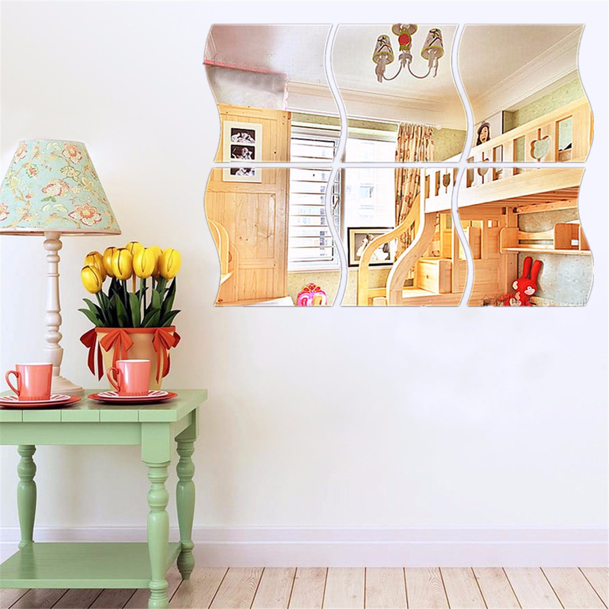 30 PCS 3D Acrylic Modern Mirror Wall Stickers Vinyl Removable Home View Window Decal Art Decor Mural For Home Living Room Decoration