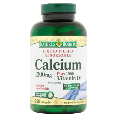 Nature's Bounty calcium 1200mg Rapid Release liquide Rempli 220 Softgel Gélules