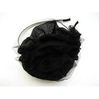 Alur Jewelry  Fabric Flower Head Band Black