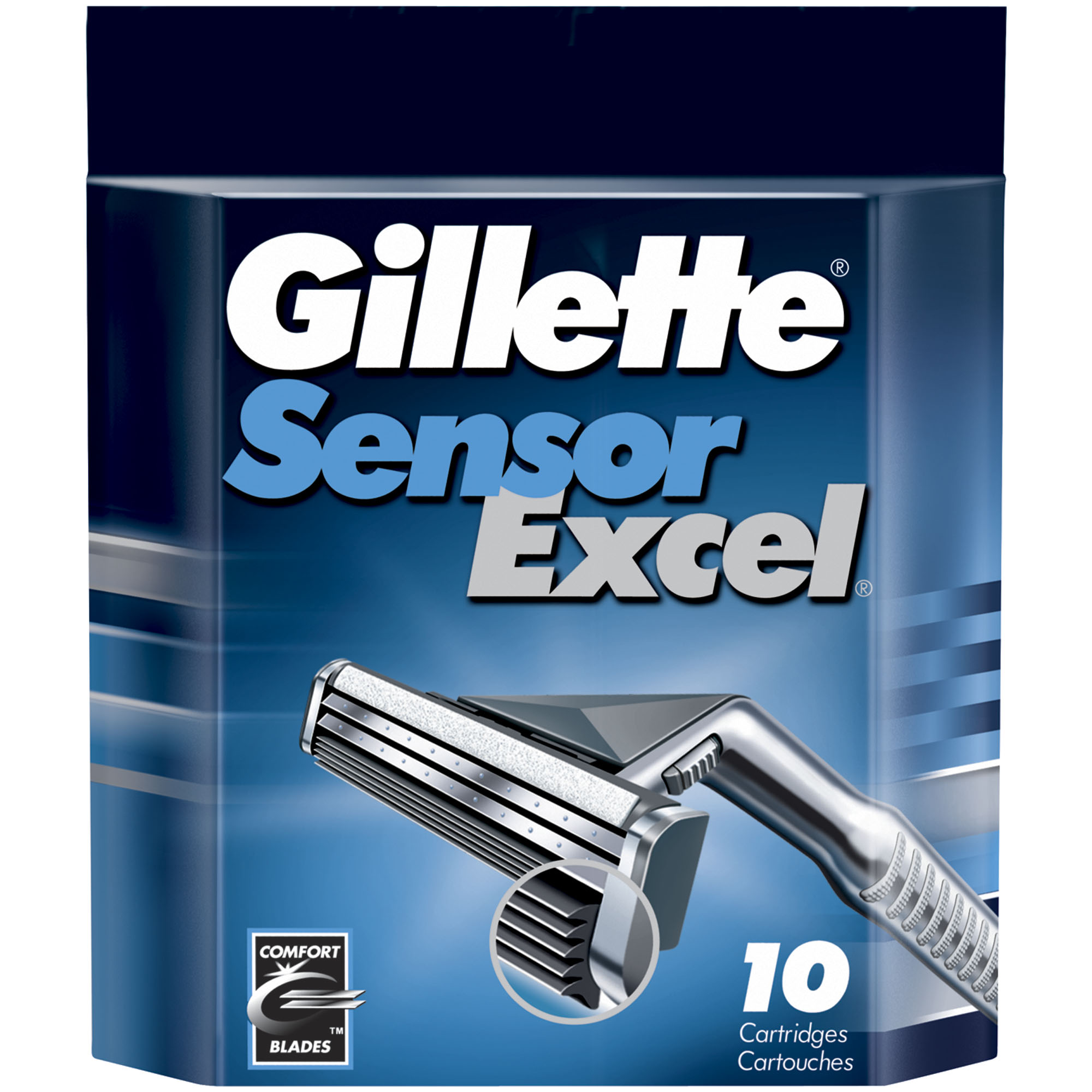 Gillette Sensor Excel Cartridges - 10 CT