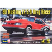 Plastic Model Kit, '90 Mustang LX 5.0 Drag Racer, 1/25