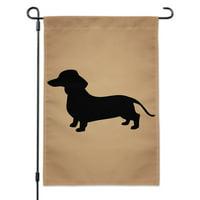 Dachshund Wiener Dog Garden Yard Flag with Pole Stand Holder