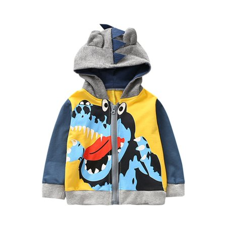 70a61fdbf0ff DZT1968 Baby Infant Kids Boys Girls Cartoon Animal Hooded Coat Cloak Tops  Warm Clothes