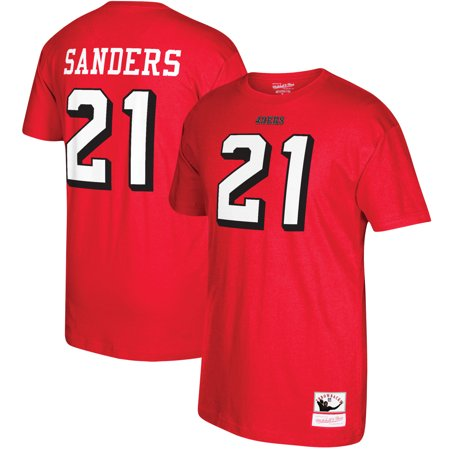 Deion Sanders San Francisco 49ers Mitchell & Ness Retired Player Name and Number T-Shirt - Scarlet