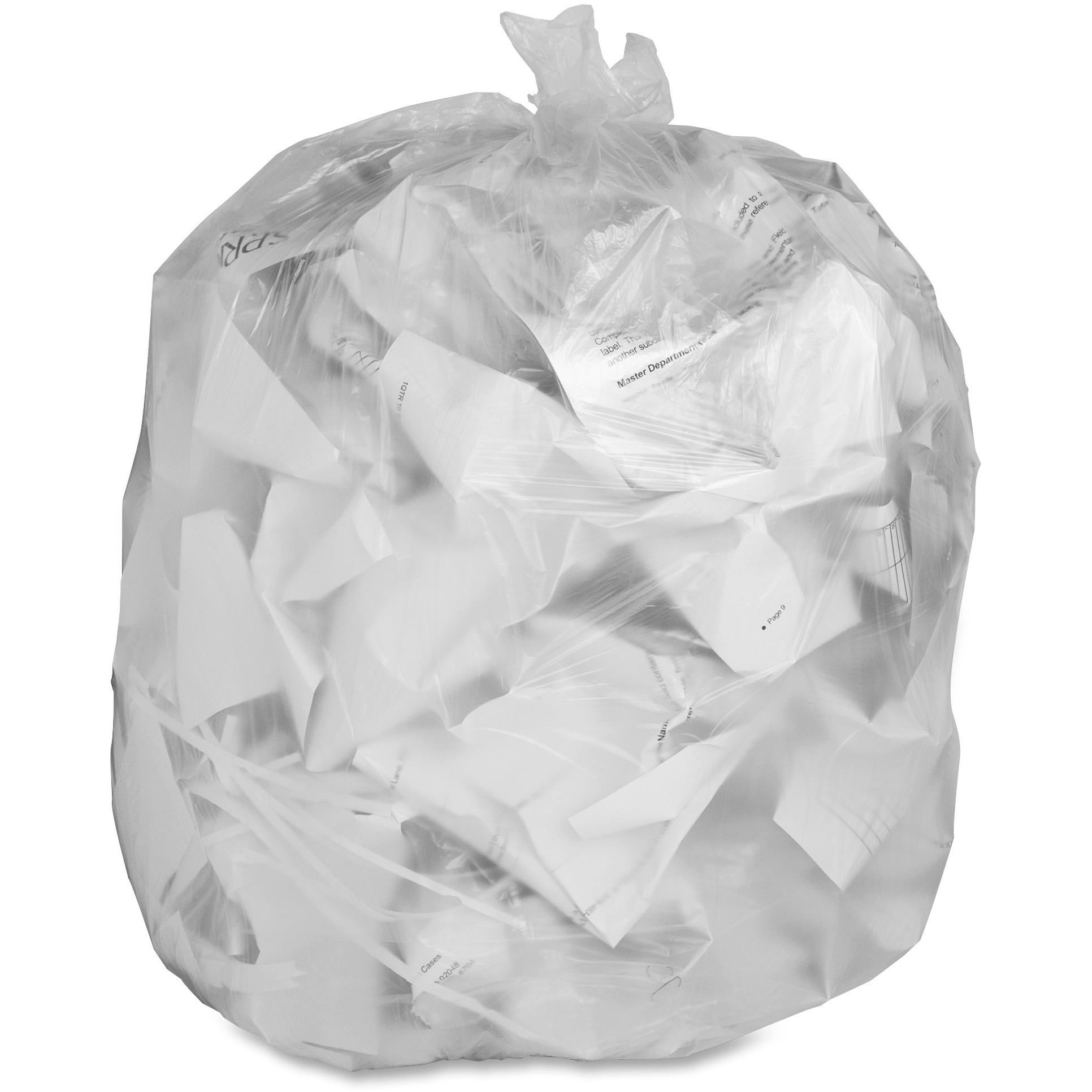 Genuine Joe, GJO70010, Economy High-Density Can Liners, 1000 / Carton, Translucent, 10 gal