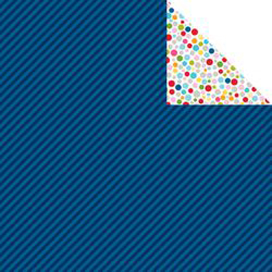 "Blueberry Strandz - Color Chaos Double-Sided Cardstock 12""X12"""