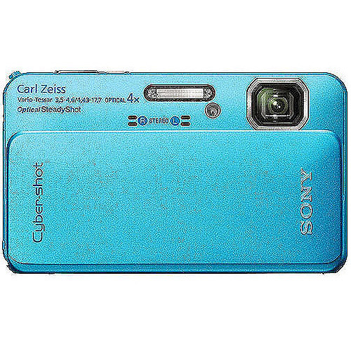 "Sony Cyber-shot DSC-TX10 16MP Waterproof Digital Camera, Blue w/ 4x Optical Zoom, HD Movie Capture, 3.0"" Touchscreen LCD"