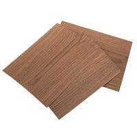 "Sauers Walnut Veneer 8-1/2"" x 11"" – 2-ply Wood on Wood, 3 pieces"