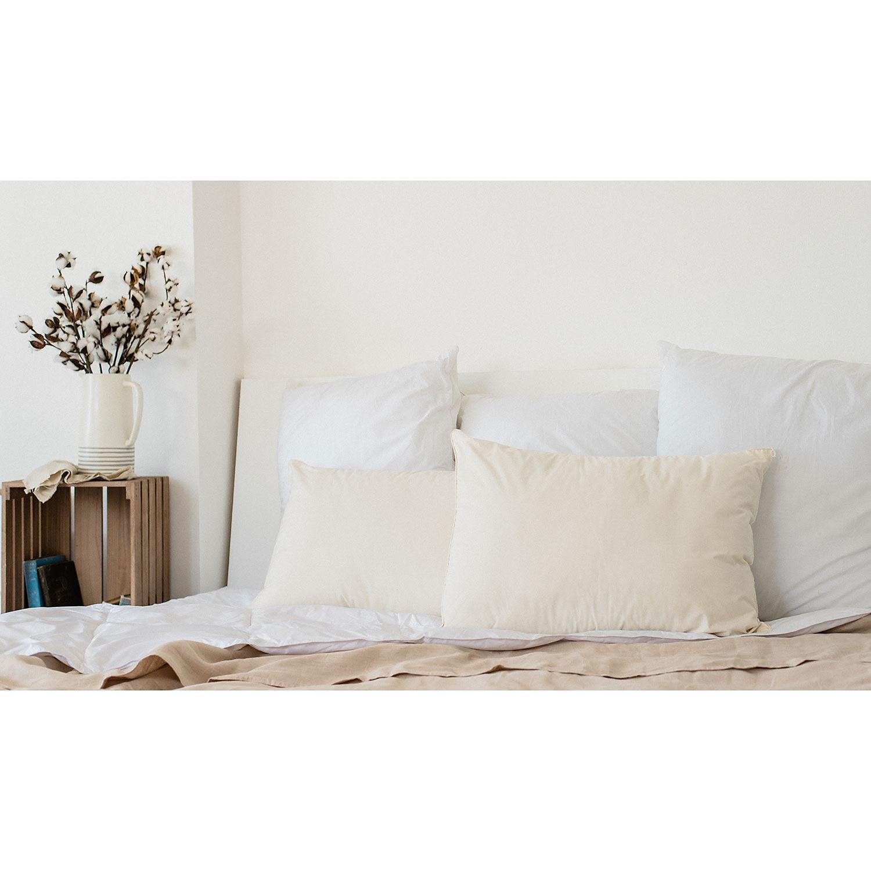 Iso-Pedic Organic Cotton Allergy Alleviator Jumbo Bed Pillow Jumbo White
