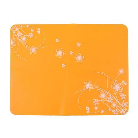 Unique Bargains Kitchen Silicone Table Placemat Tablet Pot Pad Mat 40x30cm Orange ()