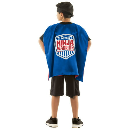 Best Superhero Costumes Ever (American Ninja Warrior Reversible Cape Best Gift for Birthday Party, Pretend Play, Dress Up,)