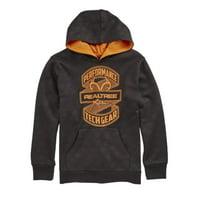 Realtree Xtra Boys Black Poly Fleece Pullover Hoodie Sweatshirt