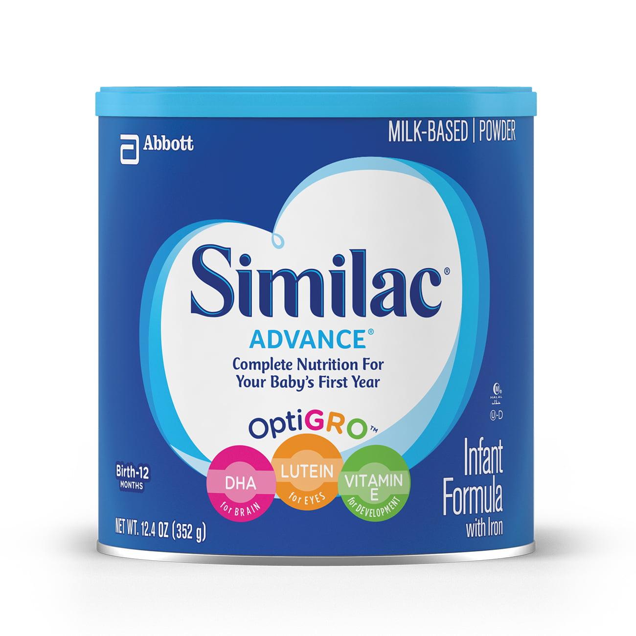Similac Advance Infant Formula with Iron, Powder, 12.4 oz (Pack of 6)