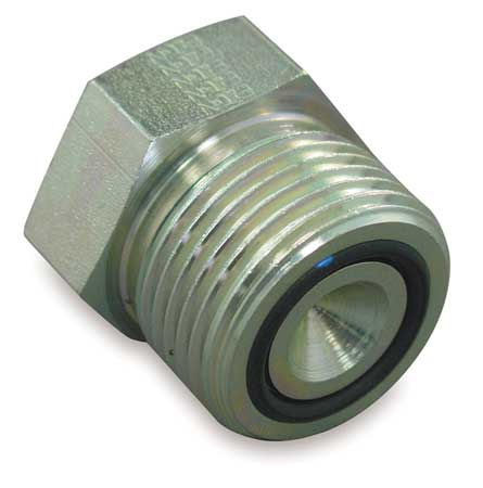 EATON FF976708S Hose Adapter, Male ORS, Plug, 13/16-16