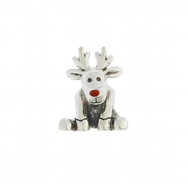151150 Reindeer Bead in Sterling Silver with Enamel.  Weight- 3. 80g