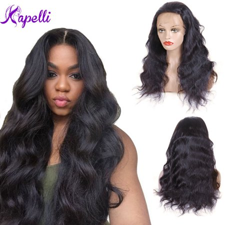 Kapelli Brazilian Body Wave Full Lace Human Hair Wigs With Baby Hair Lace Wig 18