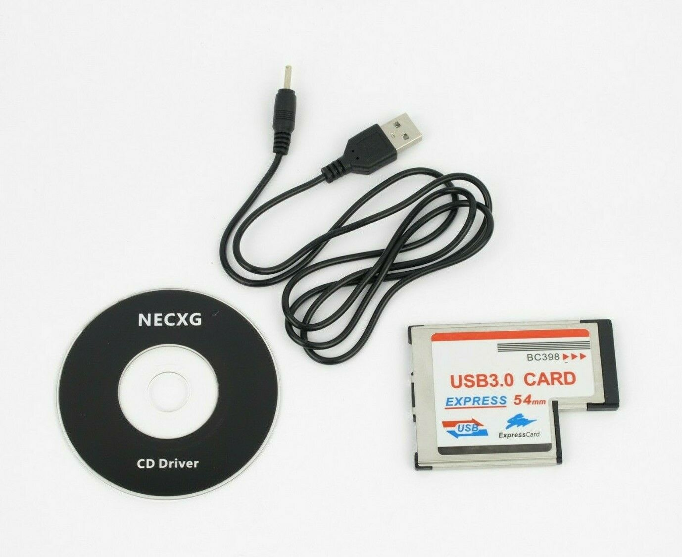Sharplace 3Port USB3.0 HUB Express Card Laptops ExpressCard Hidden 54mm Connector