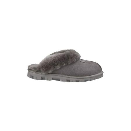 Ugg Women's Coquette Grey Sheepskin Slipper - 9M ()