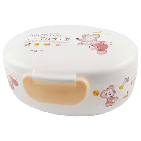 Unique Bargains Unique Bargains White Light Apricot Plastic Moon Star Prints Meal Lunch Box w Fork - Moon Lunch