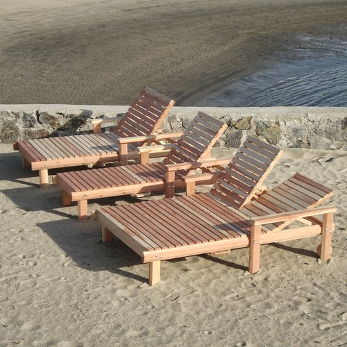 Best Redwood Beach Wide Chaise Lounge
