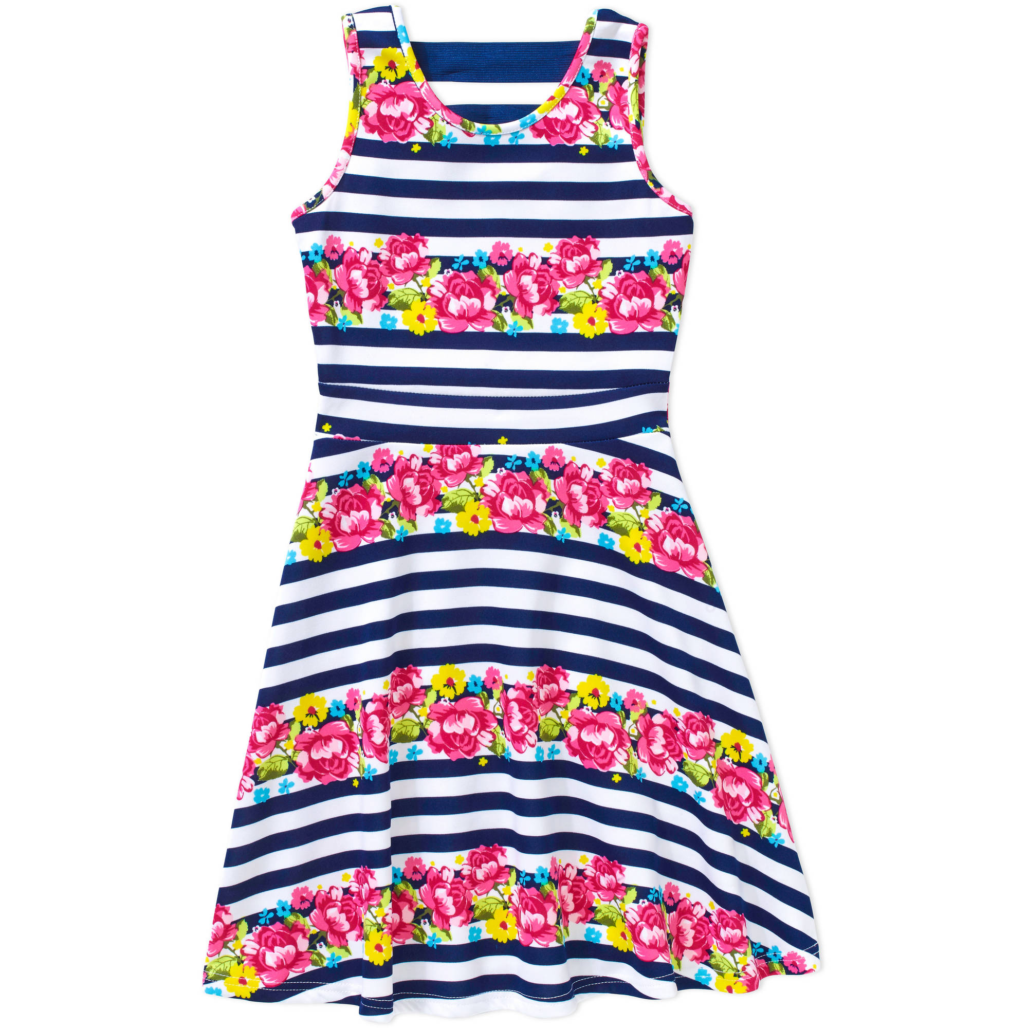 "Colette Lilly Girls' ""Dress Obsession"" Scuba Print Skater Dress"