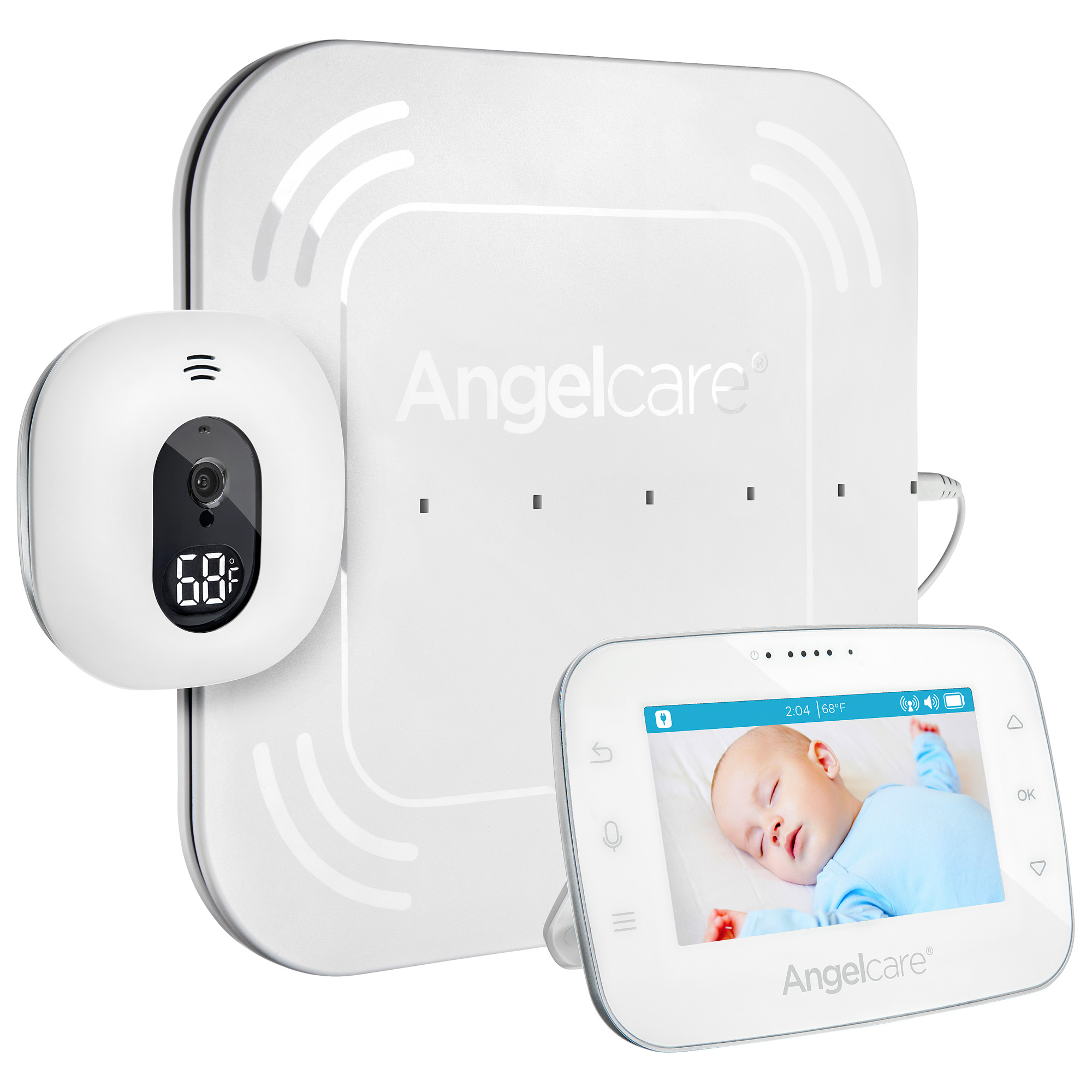 "Angelcare AC315 Breathing Monitor for Babies with 4.3"" Touch Control Display and Wired Sensor Pad"