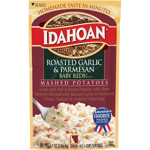 Idahoan Baby Reds Roasted Garlic & Parmesan Mashed Potatoes, 4.1 oz