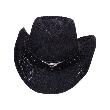 Flower Hat Band - Women's Country Cowboy Hat with Bull Stud Band