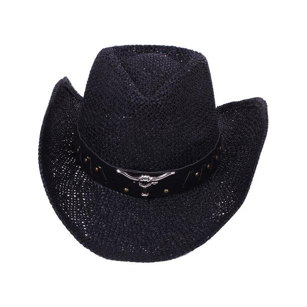 BASILICA - Women's Country Cowboy Hat with Bull Stud Band - Walmart.com -  Walmart.com