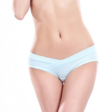 Women Pregnant Panty U-Shaped Lingerie Low Waist Breathable Triangular Cross - image 1 of 6