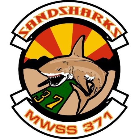 US Marine Wing Support Squadron MWSS 371 Sandsharks Decal Sticker 3.8