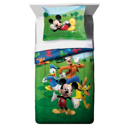 Disney Mickey Mouse Club House Adventure Twin Comforter and Sham Set Charter Club Vail Comforter