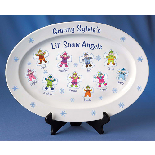 Personalized Snow Angels Platter