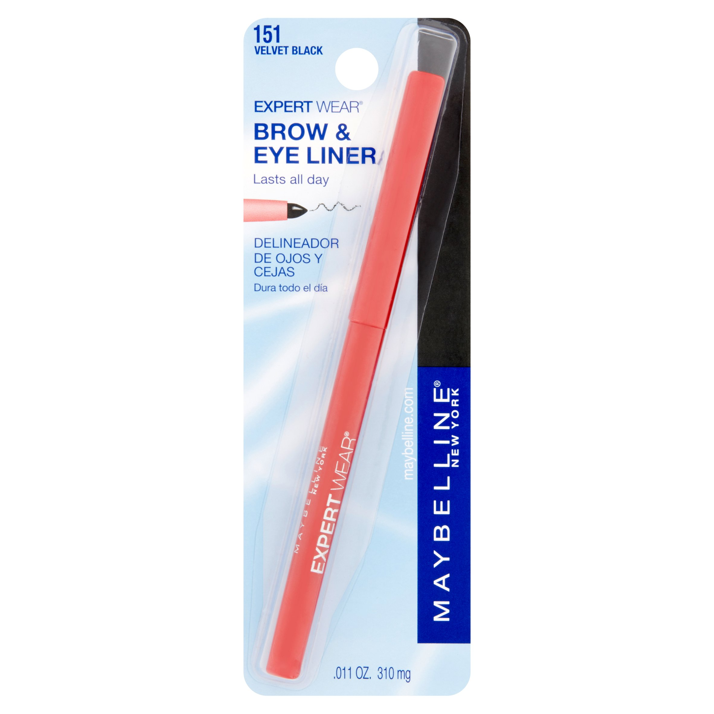 Maybelline Expert Wear Brow & Eyeliner Pencil, Dark Brown