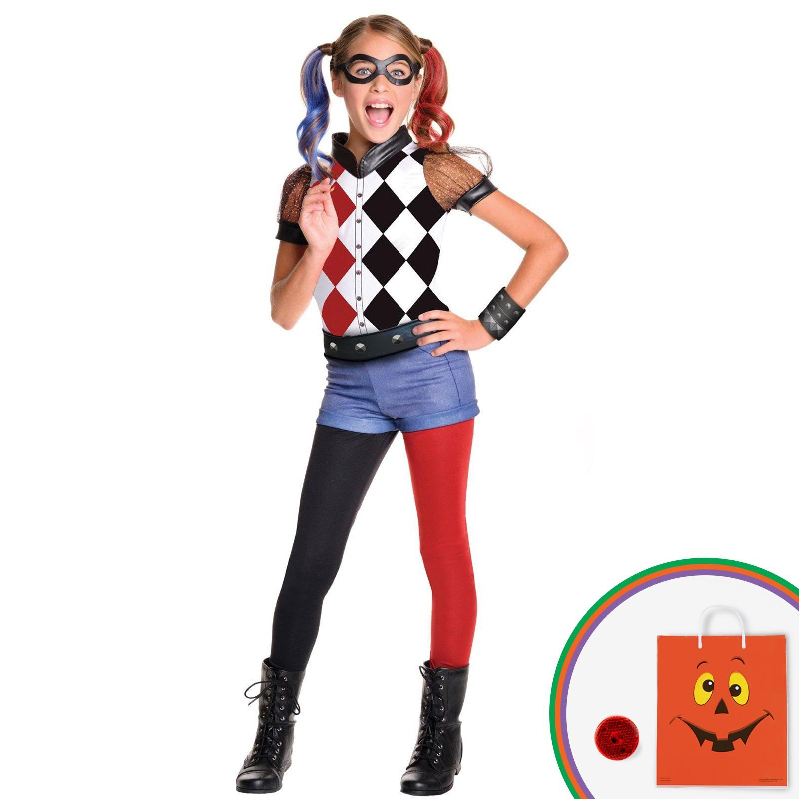 DC Superhero Girls: Harley Quinn Deluxe Child Costume Kit with Free Gift by Rubies