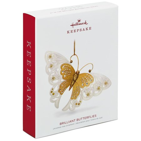 Hallmark Keepsake 2018 Brilliant Butterflies Gold Ornament ()