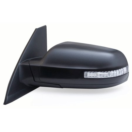 Side Mirror Cover (68594N - Fit System Driver Side Mirror for 08-13 Nissan Altima Coupe, w/ turn signal, black, PTM cover, foldaway, Power)