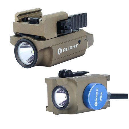 Olight PL-MINI 2 Valkyrie FDE Tan 600 Lumen Rechargeable Pistol Light for Compact or