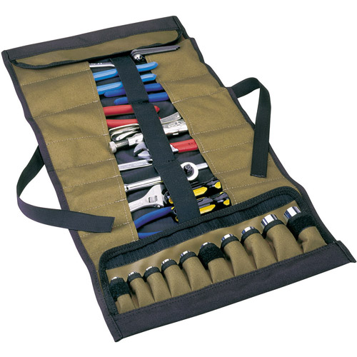 Custom Leathercraft 1173 32-Pocket Socket and Tool Roll Pouch