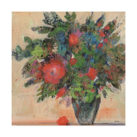 Trademark Fine Art Bouquet With Red Blossoms Canvas By Sheila Golden