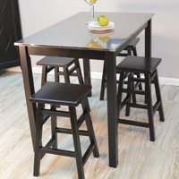 Carolina Morgan Stainless Steel Top Bar Table - Black