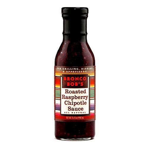 Bronco Bob's Raspberry Chipotle Sauce 5.75 oz each (1 Item Per Order) by
