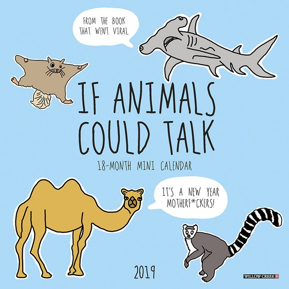 If Animals Could Talk 2019 Mini Wall Calendar, Funny Dogs by Willow Creek Press