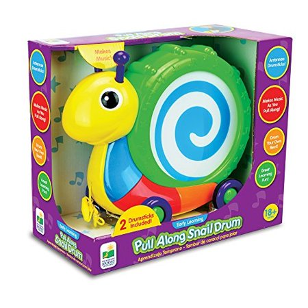 Snail Pull Toy (The Learning Journey Pull Along Snail Drum Instrument Toy)