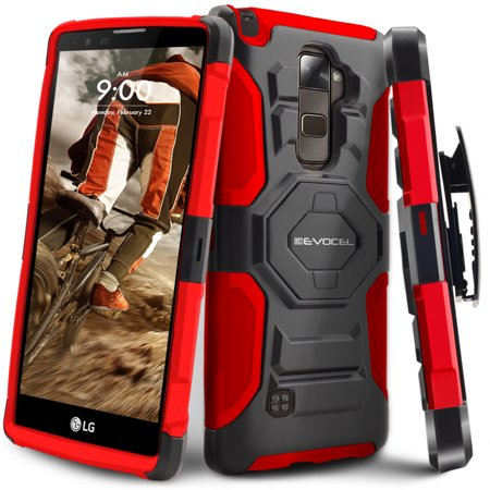 new arrival b9292 3261c LG G Stylo 2 Case, Evocel [Belt Clip Holster] [Kickstand] [Dual Layer] New  Generation Phone Case for LG G Stylo 2 (2016 Release), Red