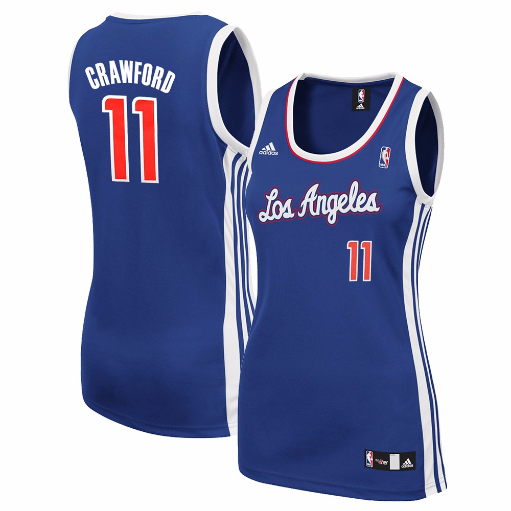 Jamal Crawford Los Angeles Clippers NBA Adidas Women's Blue Replica Jersey