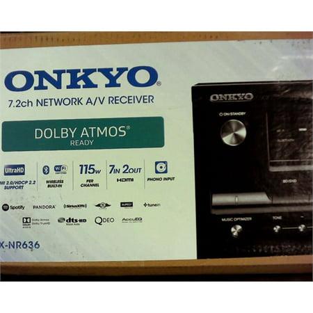 Refurbished Onkyo TX-NR636 7.2-Ch Dolby Atmos Ready Network A/V Receiver w/ HDMI 2.0