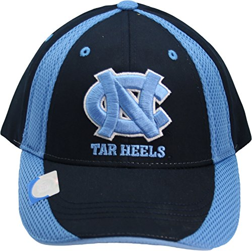 NCAA North Carolina Tar Heels One-Fit Adjustable Velcro Two Tone Hat Blue