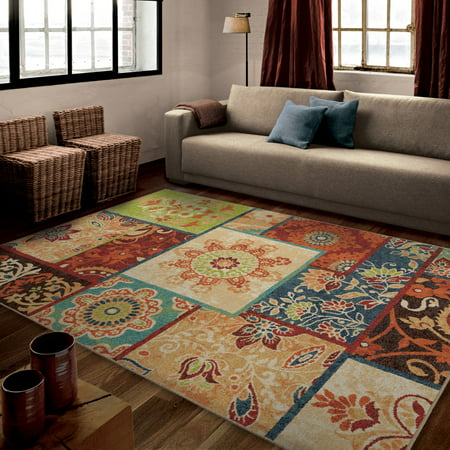 orian rugs patchland multi colored area rug walmart 87751