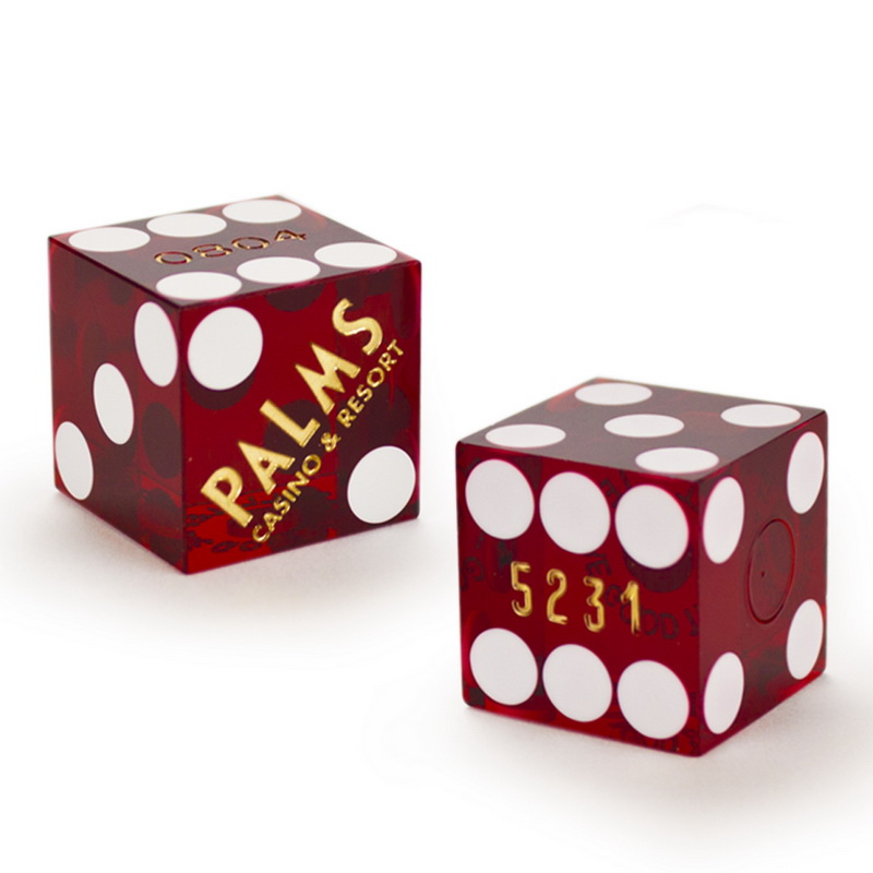 Brybelly Pair (2) of Palms 19 MM Official Casino Dice